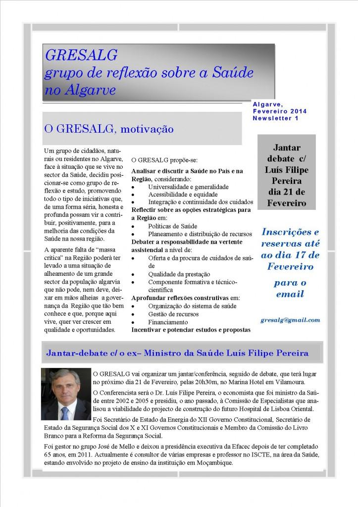 GRESALG newsletter fev 2014